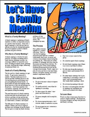 E092 Let's Have a Family Meeting - HandoutsPlus.com