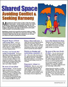 E101 Shared Space: Avoiding Conflict, Seeking Harmony - HandoutsPlus.com