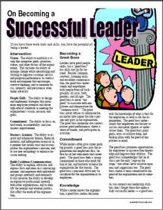 E103 Becoming a Successful Leader (Supervisor) - HandoutsPlus.com