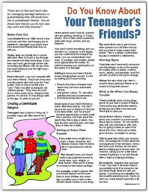 E116 - Do You Know About Your Teenager's Friends - HandoutsPlus.com