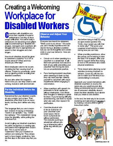 E119 - Creating a Welcoming Workplace for Disabled Workers - HandoutsPlus.com
