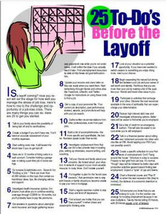 E121 - 25 To-Do's Before a Company Layoff - HandoutsPlus.com