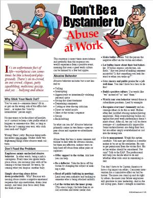 E134 Don't Be a Bystander to Abuse at Work - HandoutsPlus.com