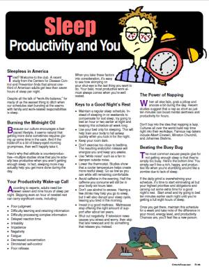 E135 Sleep Productivity and You - HandoutsPlus.com