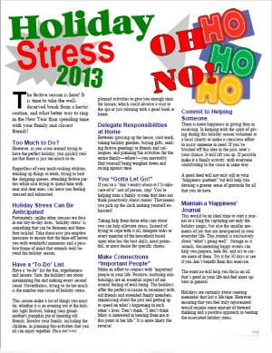 E137 Holiday Stress 2020 (Any Year) - HandoutsPlus.com