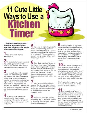 E138 11 Cute Little Ways to Use a Kitchen Timer - HandoutsPlus.com