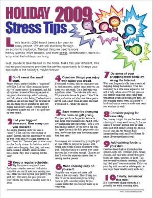 E141 Holiday Stress Tips 2020 (Any year) - HandoutsPlus.com