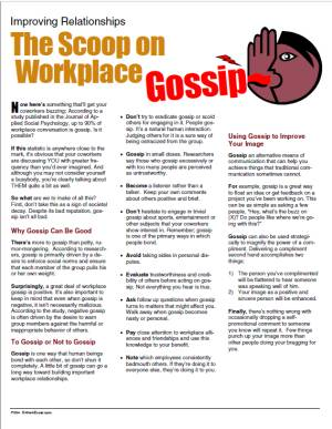 E144 The Scoop on Workplace Gossip - HandoutsPlus.com