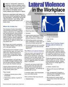 E151 Lateral Violence in the Workplace - HandoutsPlus.com