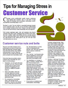 E152 Tips for Managing Stress in Customer Service - HandoutsPlus.com