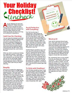 E153 Your Holiday Checklist Uncheck - HandoutsPlus.com