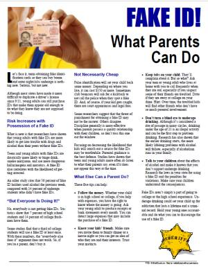 E157 Fake ID! What Parents Can Do - HandoutsPlus.com