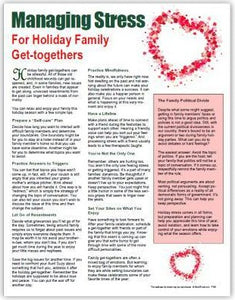 E161  Managing Stress for Holiday Family Get-togethers