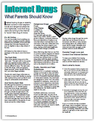 E162 - Internet Drugs: What Parents Should Know - HandoutsPlus.com