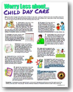 E163 Worry Less About Child Day Care - HandoutsPlus.com