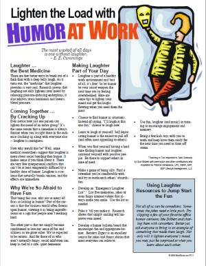 E123- Lighten the Load with Humor At Work - HandoutsPlus.com