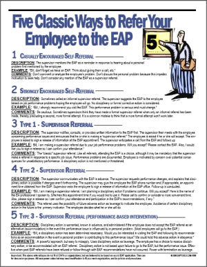 S173V Five Ways to Refer an Employee to the EAP - HandoutsPlus.com