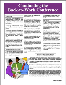 S176V  Back to Work Conference Guidelines - HandoutsPlus.com