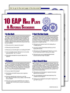 S179V Ten Role Plays and EAP Referral Scenarios for Supervisors - HandoutsPlus.com