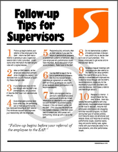 S182V EAP Follow-up Tips for Supervisors - HandoutsPlus.com
