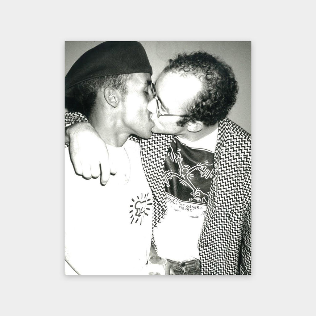 Andy Warhol, Keith Haring and Juan Rivera Kissing, 1986
