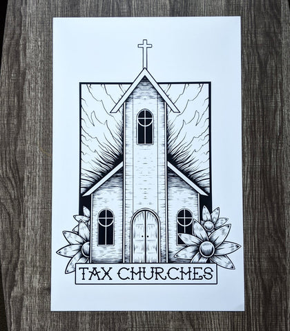 Tax Churches - Print