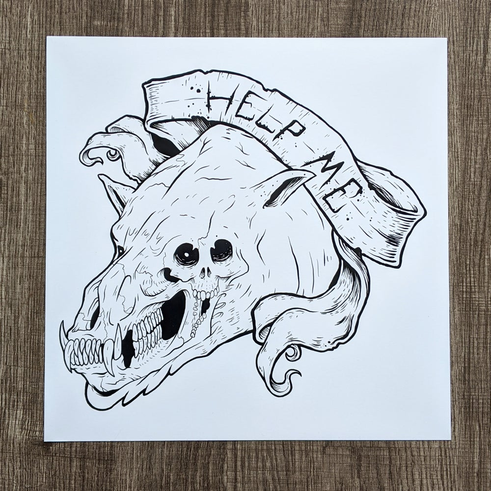 Homerton The Bear - Print