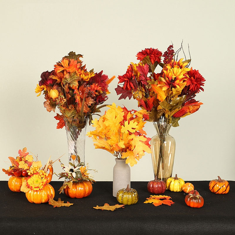 Artificial Pumpkin Centerpiece Holiday Decorations Home Decor Ideas