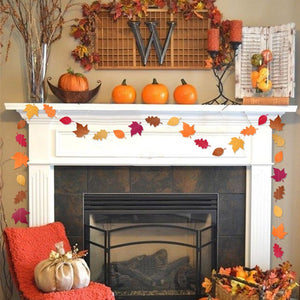 Autumn Themed Leaves Garland Holiday Home Decor
