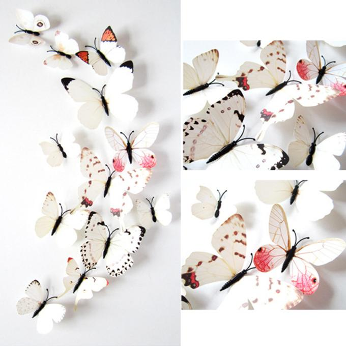 White Butterfly 3D wall decor cute Butterflies Wall Sticker Art Design