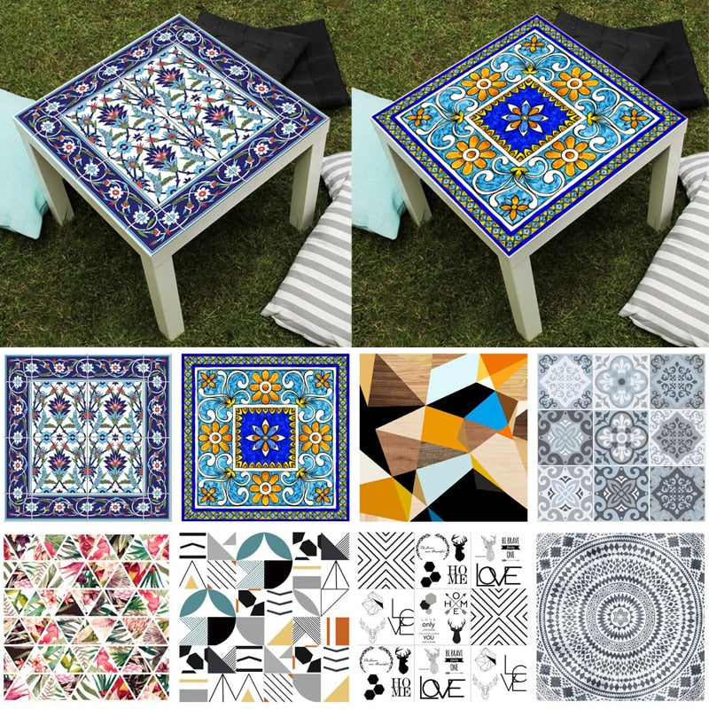 Geometric Table Decals Self-adhesive Stickers