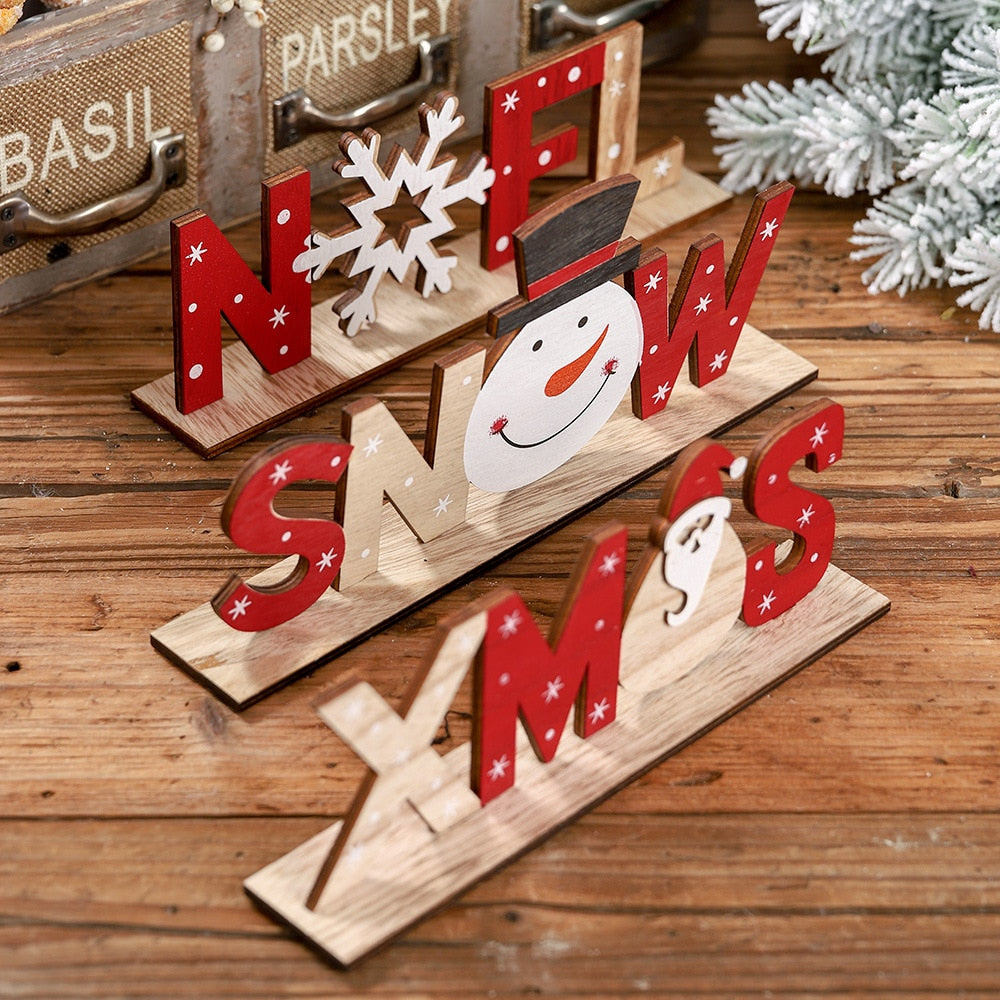 Wooden Sign Xmas Home Decoration