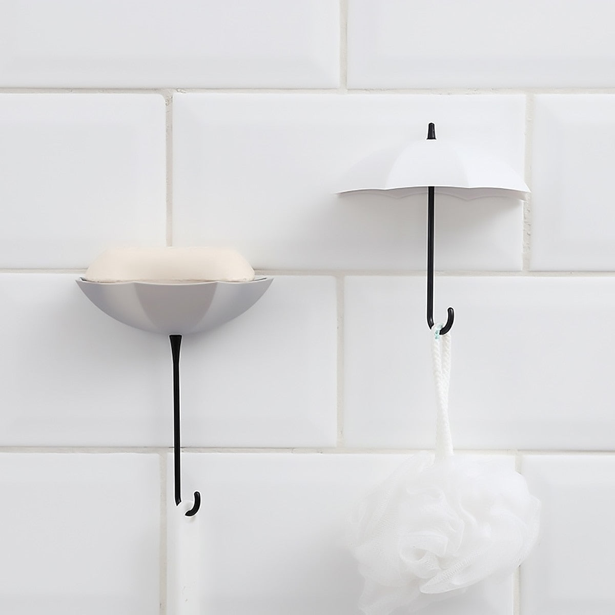 Decorative Umbrella Wall Hooks (3Pcs)
