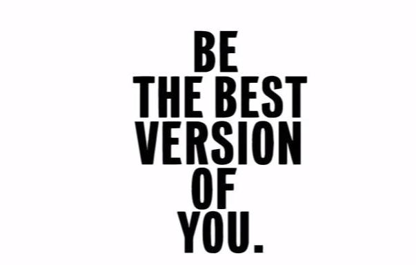 """Be The Best Version..."" Motivational Quotes Vinyl Wall Decals"