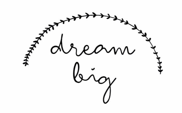 """Dream Big"" Motivational Quotes Vinyl Wall Decals"