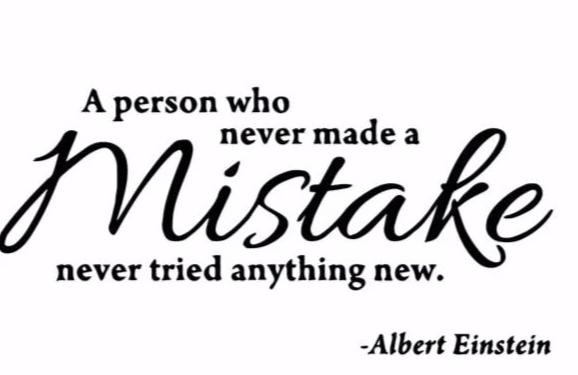 """A Person Who Never Made A Mistake..."" Motivational Quotes Vinyl Wall Decals"