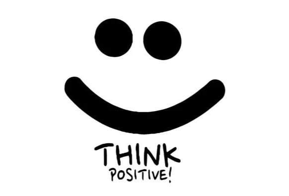 """Think Positive"" Motivational Quotes Vinyl Wall Decals"