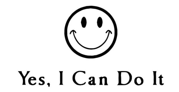 """Yes, I can..."" Motivational Quotes Vinyl Wall Decals"