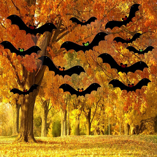 Hanging Bat Ornaments Halloween Home Decorations