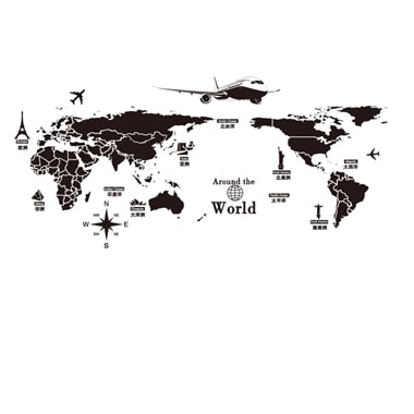 World Map/ Famous Landmarks