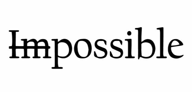 """Possible"" Motivational Quotes Vinyl Wall Decals"