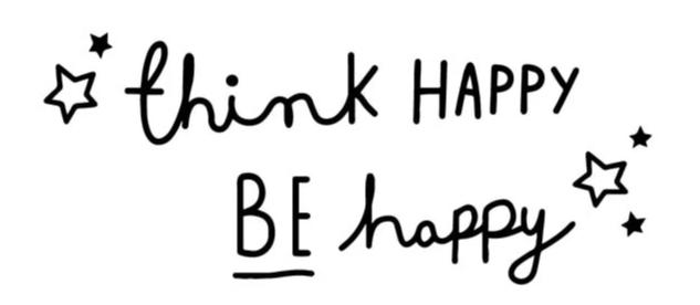 """Think Happy Be Happy"" Motivational Quotes Wall Decals"