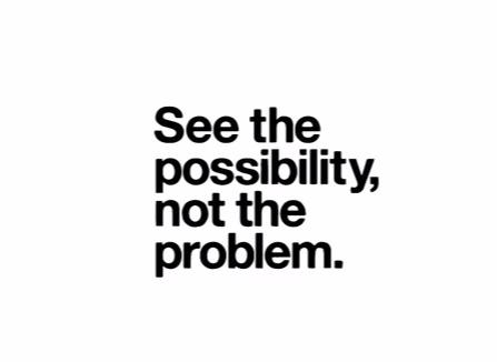 """See The Possibility..."" Motivational Quote Vinyl Wall Decals"