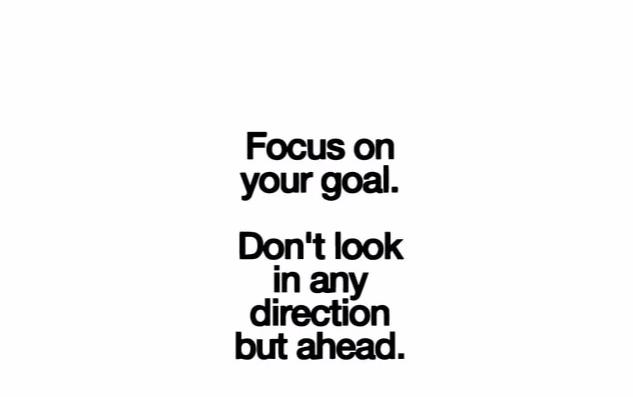 """Focus On Your Goal..."" Motivational Quote Wall Decal"