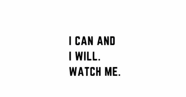 """I Can And I Will..."" Motivational Quote Wall Decal"
