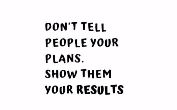 """Don't Tell People Your Plans..."" Motivational Quote Vinyl Wall Decals"