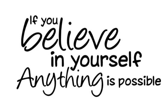 """Believe in Yourself Anything Is Possible "" Motivational Quote Vinyl Wall Decals"