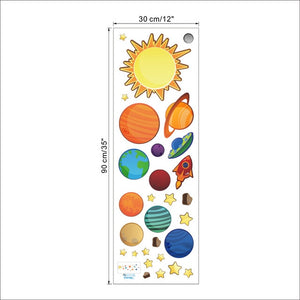 Solar System Animated Wall Stickers