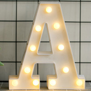 LED Monogram Letters & Numbers Room Decor