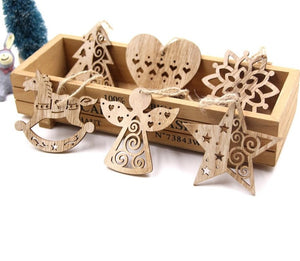 European- style Wooden Ornaments Christmas home decorations